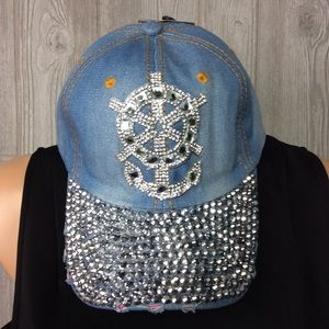 Accessories - NWT Anchor and Ship Wheel Bling Hat